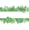 tropical banner frame wedding invitation label vector image vector image