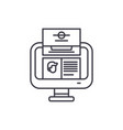 unit analysis line icon concept unit analysis vector image vector image