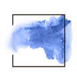 water watercolor blue hand drawn paper texture vector image