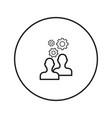 work people teamwork brainstorm icon vector image