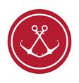 anchor maritime seal icon vector image