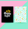 easter 80s funky style posters vector image