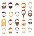 beard and hair man face mask hairstyle cartoon vector image