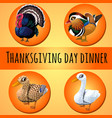 a poster on theme traditional dinner vector image vector image