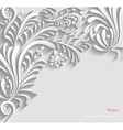 Abstract Floral 3d Background vector image vector image