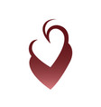 abstract heart symbol icon on white vector image vector image