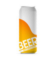 beer pop art can vector image vector image