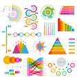 big set infographics elements graphics vector image vector image