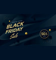 black friday sale modern poster design template vector image