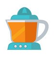 blue colored juicer vector image vector image