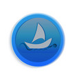boat on the sea icon vector image