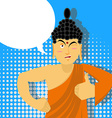 Buddha Thumbs up in pop art style Indian god Sign vector image