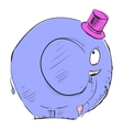 Cartoon elephant in top-hat