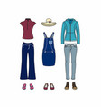 casual clothes for women vector image vector image