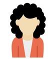 caucasian woman black curly hair vector image