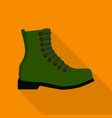 comfortable boot icon flat style vector image vector image