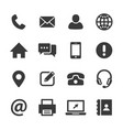 contact and communication icon set vector image vector image