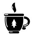 cup tea icon simple black style vector image vector image