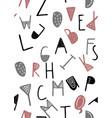 cute english hand written alphabet vector image