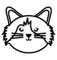 cute little cat pet head character vector image vector image