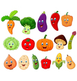 Cute vegetable cartoon character vector image vector image