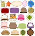 Different empty templates vector image vector image