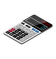 digital calculator isometric view isolated on vector image vector image