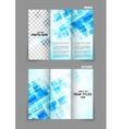 digital tri-fold brochure with squares vector image