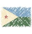Djibouti grunge flag vector image vector image