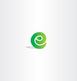 eco green letter e logo sign element logotype vector image vector image
