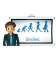 Evolution Chart vector image vector image