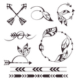 Feather and arrows vector image vector image