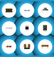 flat icon appliance set of receiver resistance vector image vector image