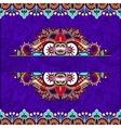 floral decorative violet colour invitation card vector image vector image