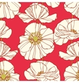 Floral seamless pattern with poppies vector image