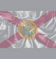 florida state silk flag vector image vector image