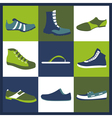 Footwear elements icons set Easily edited vector image