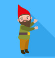 garden gnome icon flat style vector image vector image