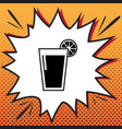 glass of juice icons comics style icon on vector image