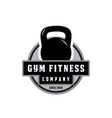 gym fitness logo vector image