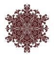 hand drawing entangle mandala element in marsala vector image vector image