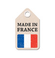 hang tag made in france with flag vector image vector image