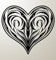 heart floral ornament vector image vector image