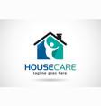 house care logo template design emblem design vector image