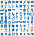 Household interior icons vector image