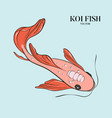 koi fish ilustration japanese chinese oriental vector image vector image