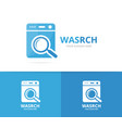 laundry and loupe logo combination vector image vector image