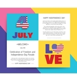 Love USA America Happy Independence Day vector image