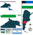 map of rio negro province argentina vector image vector image