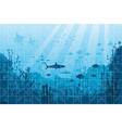marine underwater life puzzle vector image vector image